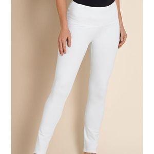Soft Surroundings White Knit Leggings